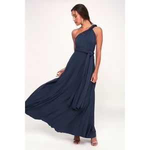 LuLu's Navy Blue Maxi Dress